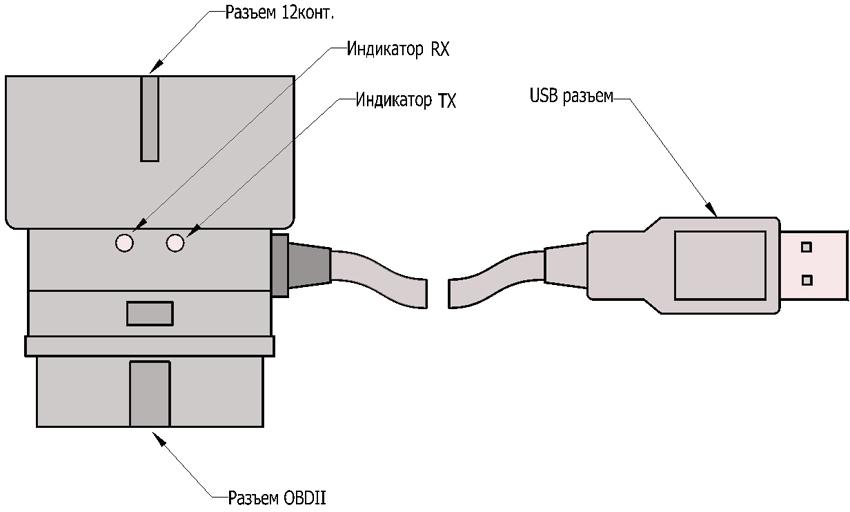 схема подключения адаптера К-линии S7000-I.